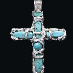 Crucifix Turcoaz-bijuterie-alina-bancila