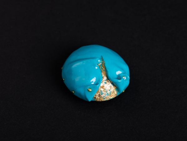 Brosa double layers Turquoise I-bijuterie-maria-filipescu