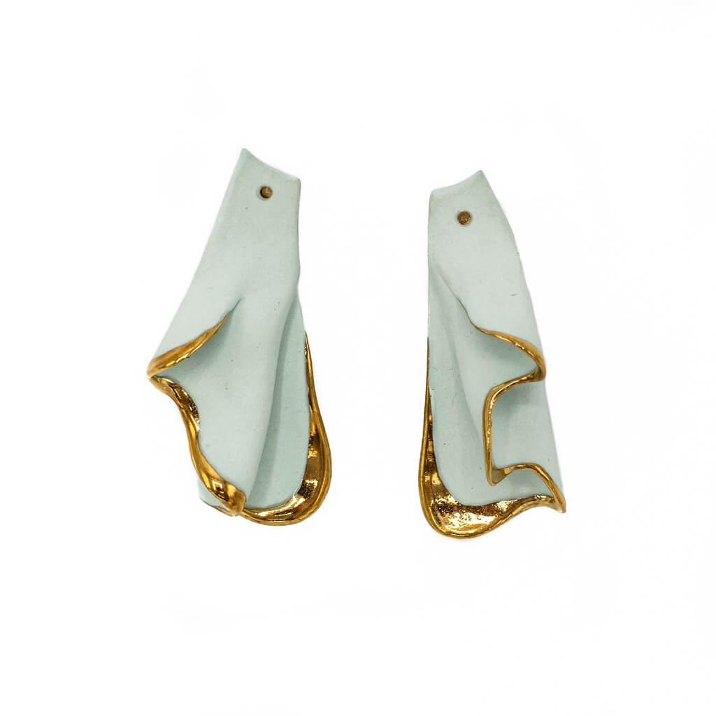 Turquoise Wave Earrings-jewelry-raluca-buzura