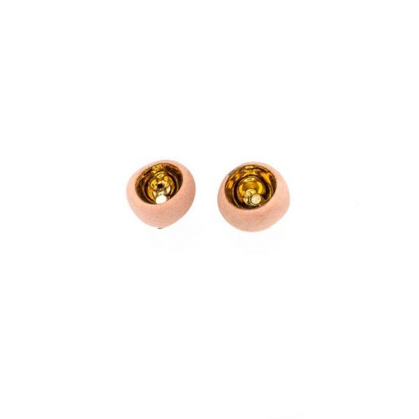 Spherical earrings with rod-jewelry-raluca-buzura