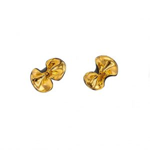 Black wavy earrings with rod-jewelry-raluca-buzura