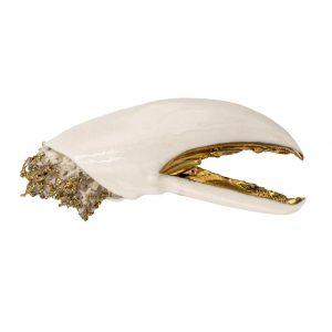 Lobster white brooch-jewelry-raluca-buzura