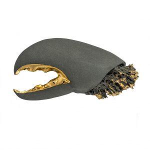Lobster gray brooch-jewelry-raluca-buzura