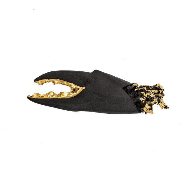 Small Lobster dark gray brooch-jewelry-raluca-buzura