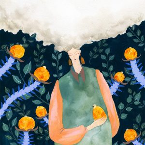 Head in the Clouds-illustration-and-caricature-