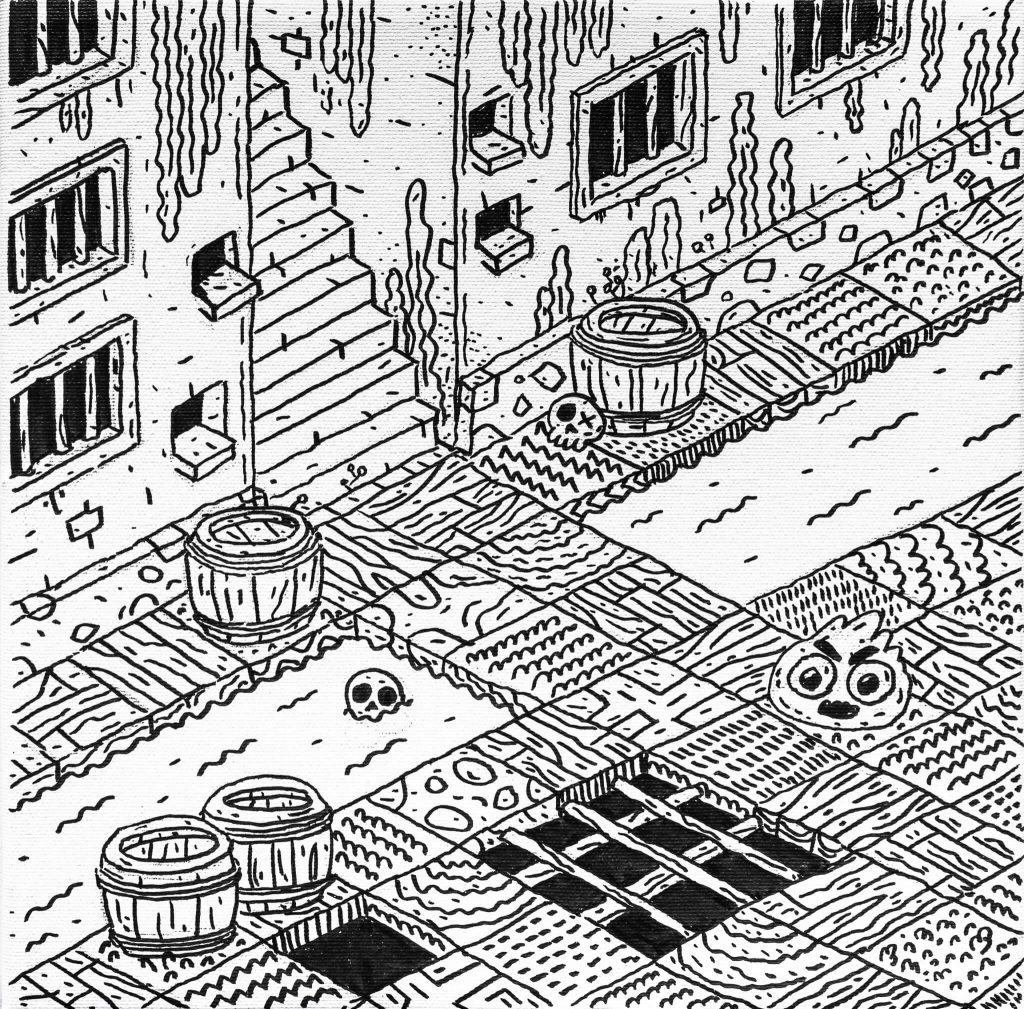 Dungeon XIV-graphic-design-catalin-gospodin