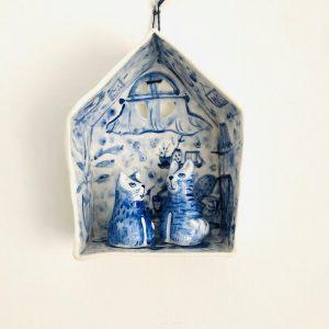 Little house with cats-decorative-art-raluca-tinca