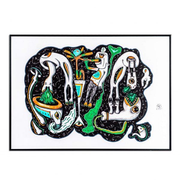 Worm hole vertige-graphic-design-gabriel-caloian