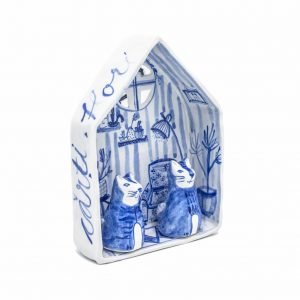 The little house with cats-decorative-art-raluca-tinca