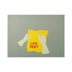 Life vest-painting-augustin-razvan-radu