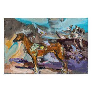 Hunting dog-painting-liviu-mihai