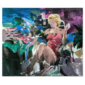 Living with Marilyn-painting-liviu-mihai