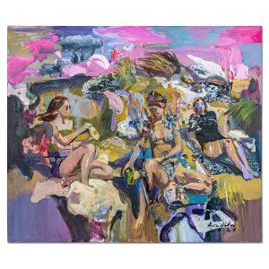 Girls in the sun-painting-liviu-mihai
