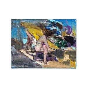 Playful yellow I-painting-liviu-mihai