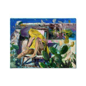 Playful yellow II-painting-liviu-mihai
