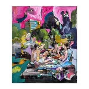 Pool side-painting-liviu-mihai