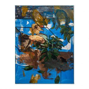 Memory in blue-painting-liviu-mihai