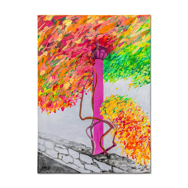 Flowery Column-painting-bogdana-contras
