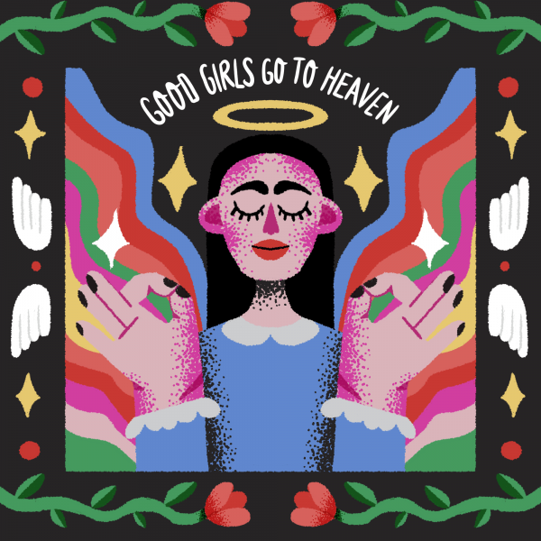 Good girls go to heaven-illustration-and-caricature-